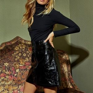 NWT ♠️ 7FAM Leather Skirt